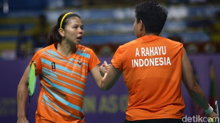 Indonesia menambah pundi-pundi medali emas SEA Games 2019 dari cabang bulutangkis. Greysia Polii/Apriyani Rahayu jadi juara di nomor ganda putri.