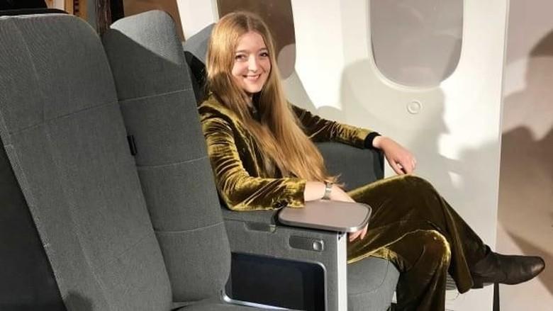 Foto: Desain kursi baru di pesawat terbang (CNN)