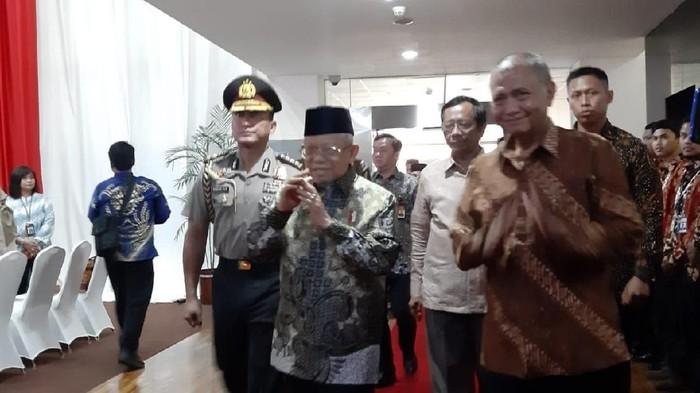 Wapres Maruf Amin hadiri Hakordia 2019 di KPK (Foto: Ibnu Hariyanto/detikcom)