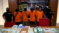 4 Pelaku Penyelundupan Sabu via Laut dari Malaysia Dibekuk Polisi