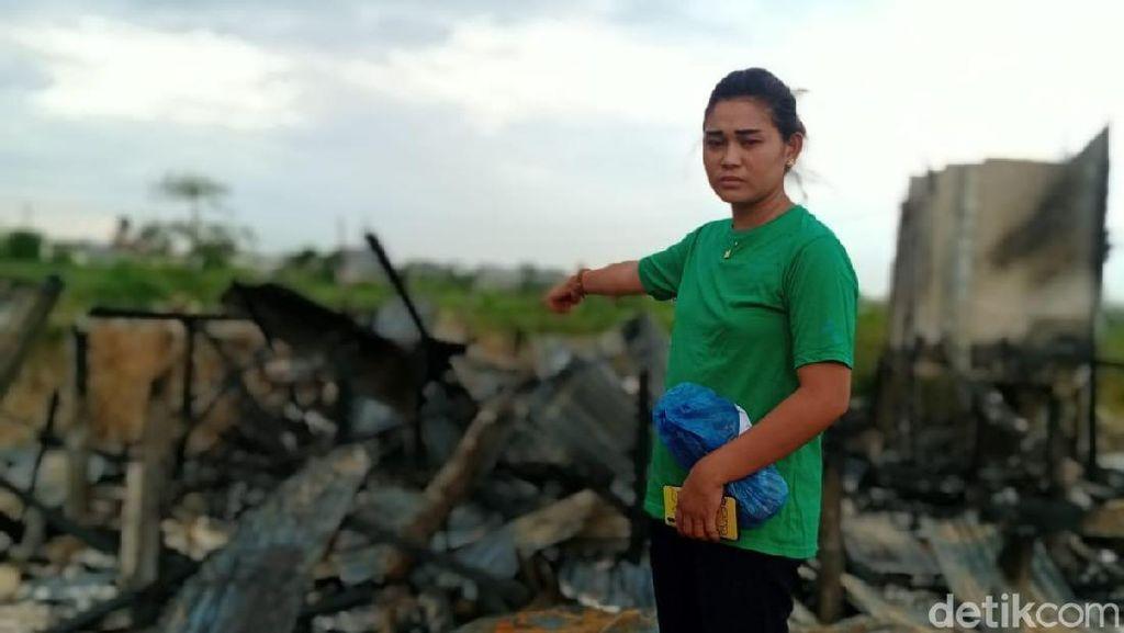 Rumah Dibakar Pacar, Siti: Dia Kalau Marah Pisau Diarahkan ke Muka Saya