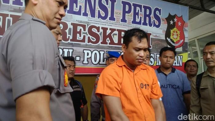 Samsir Halomoan Harahap pembunuh Bian (Foto: Datuk Haris Molana/detikcom)