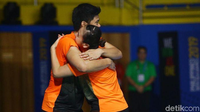 Praveen Jordan dan Melati Daeva Oktavianti meraih emas SEA Games 2019 saat tampil kurang sip. (Grandyos Zafna/detikSport)