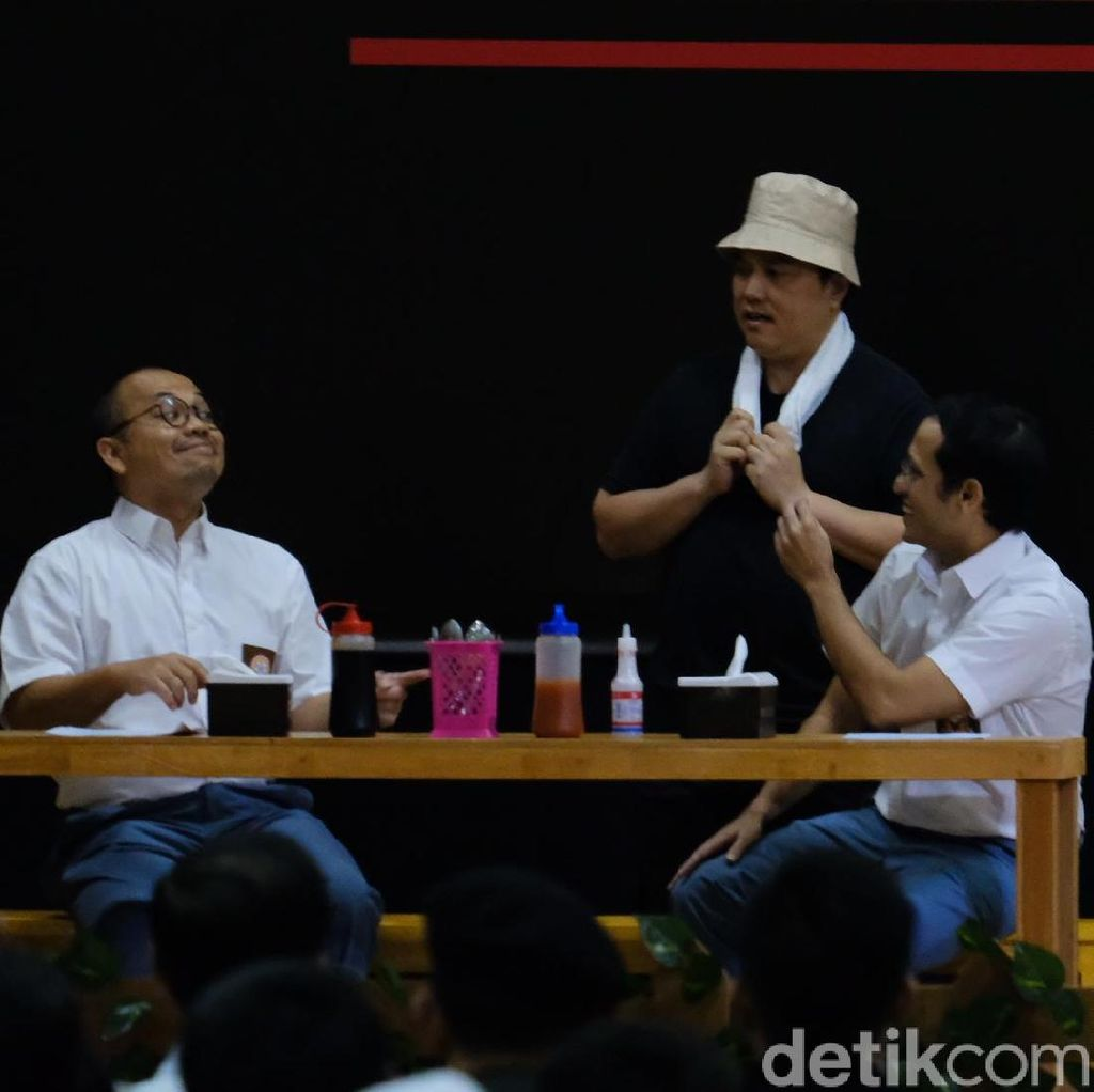 Drama Antikorupsi: Erick Thohir Tukang Bakso, Nadiem-Wishnutama Anak SMA