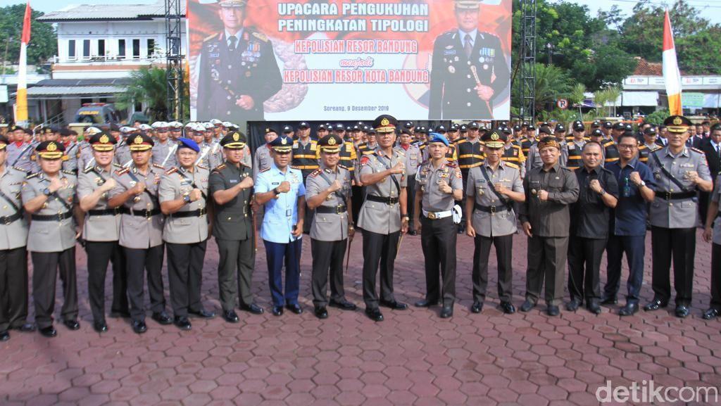 Kapolda Jabar Kukuhkan Polres Bandung Menjadi Polresta