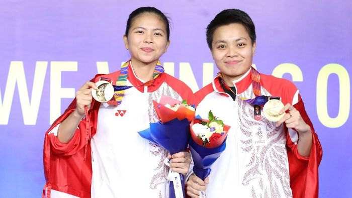 Greysia Polii/Apriyani Rahayu meraih medali emas SEA Games 2019 Filipina (dok. Humas PBSI)