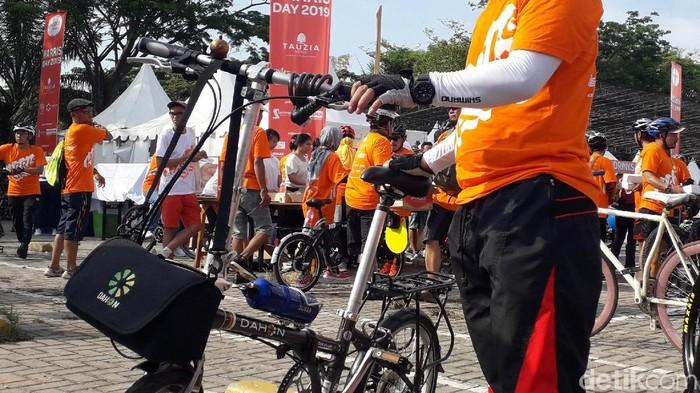 Bedakah sepeda lipat berharga selangit dengan terjangkau? Foto: Rosmha Widiyani/deetikHealth