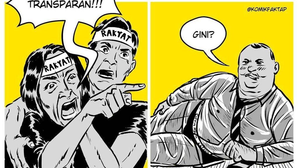 Sentilan Komik Faktap di Hari Antikorupsi