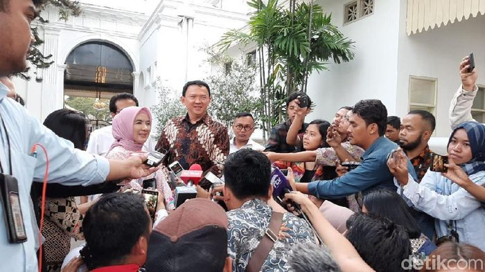 Foto: Ahok di Istana (Hendra Kusuma/detikFinance)