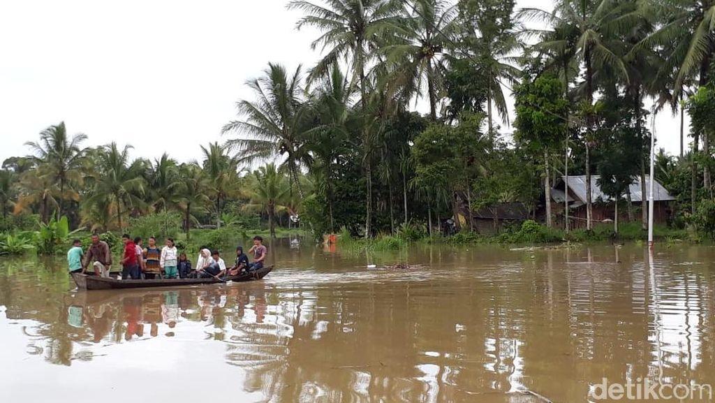 6 Kecamatan di 50 Kota Sumbar Banjir, Ratusan Rumah Terendam