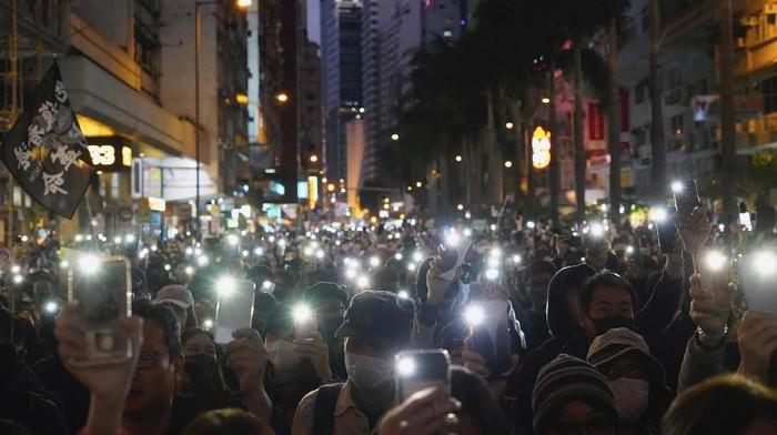Demonstran antipemerintah di Hong Kong kembali turun ke jalanan (AP Photo/Vincent Yu)