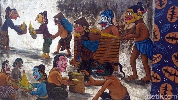 Kreatif! Tembok Lawas di Magelang Dihiasi Lukisan 3D Keren
