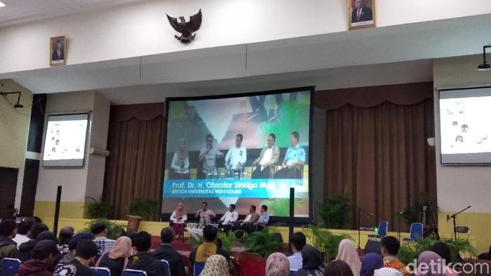 BNPT ajak mahasiswa di Bandung cegah radikalisme. (Foto: Dony Indra Ramadhan/detikcom)