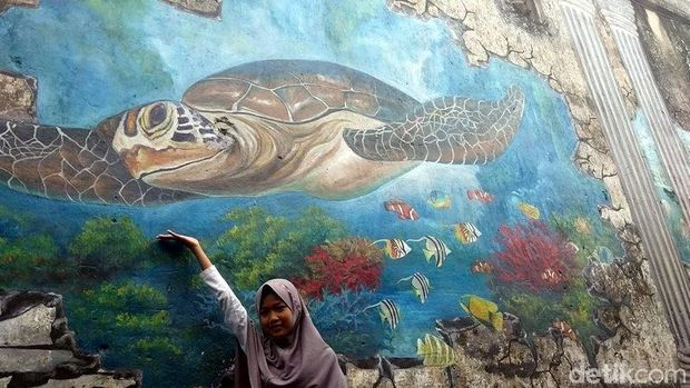 Kreatif Tembok Lawas Di Magelang Dihiasi Lukisan 3d Keren