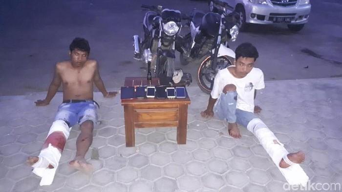 2 penjambret di Lombok Timur yang ditangkap (Harianto/detikcom)