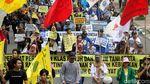 Massa Geruduk Istana Peringati Hari HAM Internasional