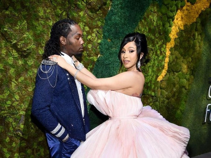 NEW YORK, NEW YORK - SEPTEMBER 12: Offset (L) and Cardi B attend Rihannas 5th Annual Diamond Ball Benefitting The Clara Lionel Foundation at Cipriani Wall Street on September 12, 2019 in New York City. (Photo by Dimitrios Kambouris/Getty Images for Diamond Ball)