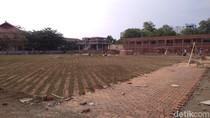 Proyek Revitalisasi Alun-alun Kejaksan Cirebon Baru 65 Persen