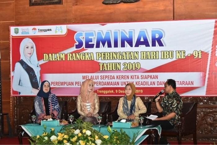 Foto: adv trenggalekSeminar Forum Partisipasi Publik untuk Kesejahteraan Perempuan dan Anak (PUSPA)/Foto: Kab Trenggalek