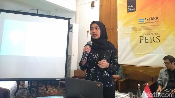 Foto: Direktur Eksekutif SETARA Institute Ismail Hasani (Azizah-detikcom)