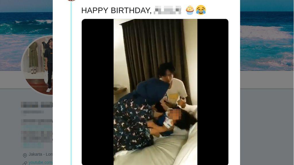 Viral Orang Tua Paksa Bangunkan Anak demi Tiup Lilin, Netizen Khawatirkan Kondisi Anak