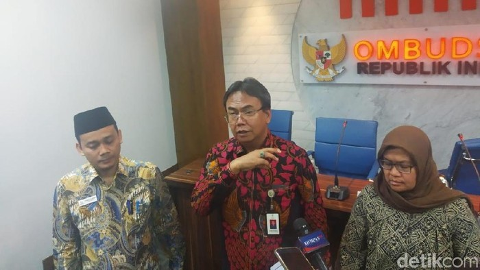 Foto: Jumpa pers di Kantor Ombudsman RI (Rizal Bahari/detikcom)