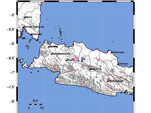 Gempa M 3,2 Terjadi di Bekasi