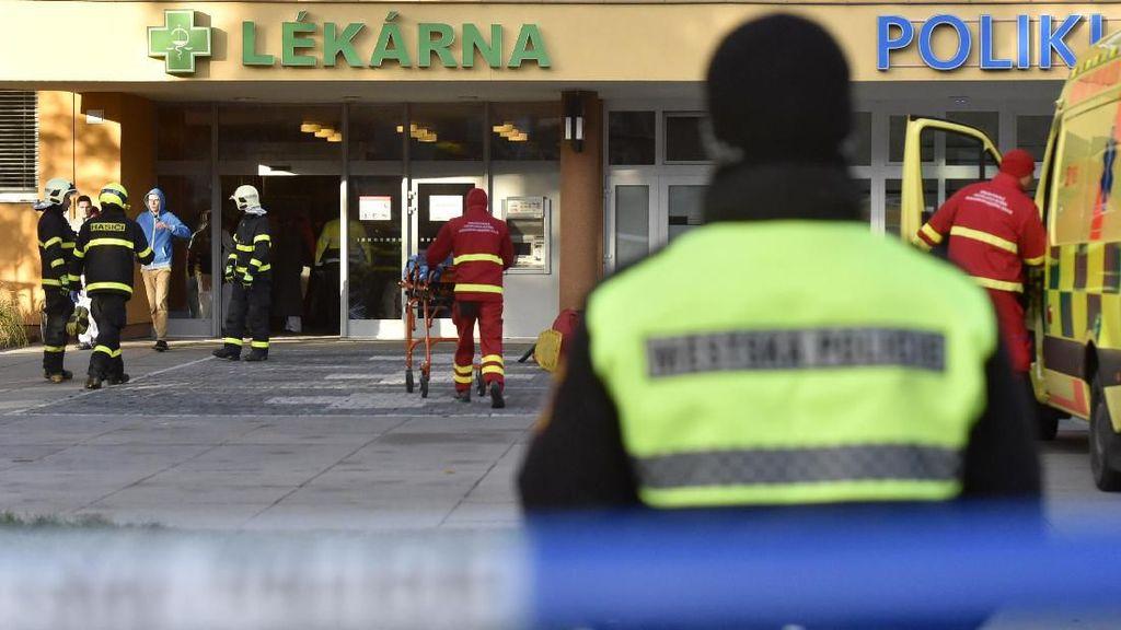 Pelaku Penembakan di RS Ceko Tewas Bunuh Diri Saat Dikejar Polisi