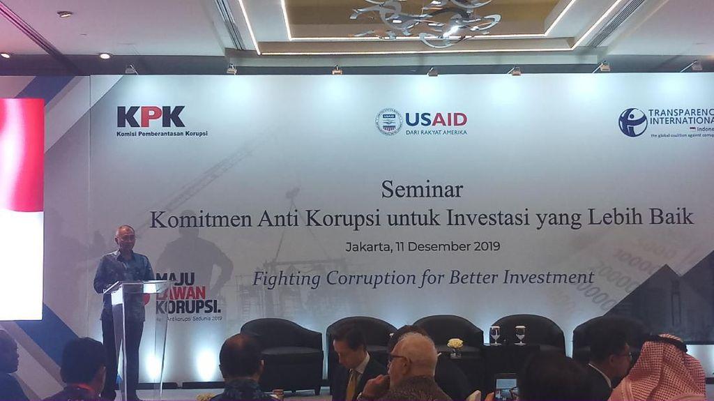 Buka Seminar Antikorupsi demi Investasi, Agus Rahardjo Ungkit Revisi UU KPK