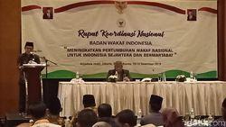 Di Rakornas BWI, Menag Cerita Menara Syariah di PIK Disponsori Nonmuslim