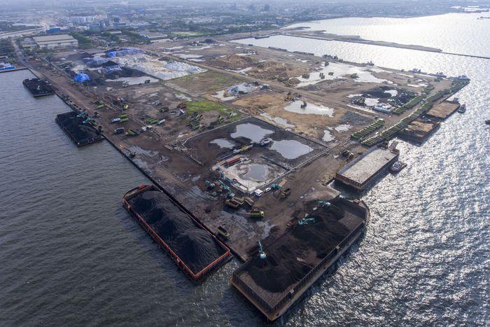 Begini penampakan terkini pembangunan Pelabuhan Marunda, Jakarta Utara, Rabu (11/12/2019).