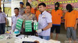 4 Pengedar di Banyuwangi Dibekuk, 90 Gram Sabu dan 41.500 Pil Koplo Disita