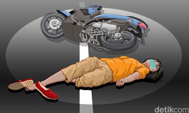 Harley Vs Nmax, Pemoge Pingsan gara-gara Tali Helm Tak Diikat dengan Benar