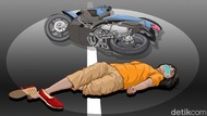 Dua Sepeda Motor Tabrakan di Cianjur, Satu Penumpang Tewas