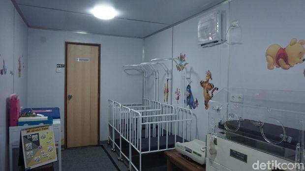 Ruang perawatan anak juga ada.