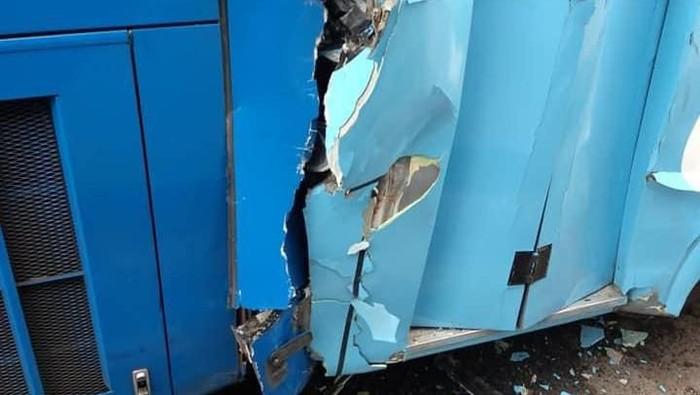 Foto: Kecelakaan TransJakarta. (Foto: Dok. Istimewa)