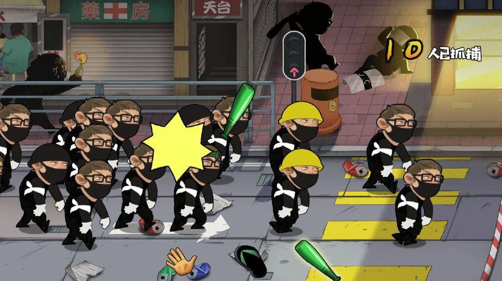 China Bikin Game Pukuli Demonstran Hong Kong