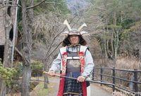 Turis dengan baju perang Jepang (Syanti/detikcom)