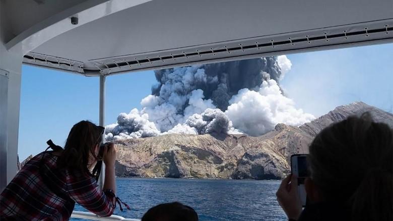 Foto: (AFP) Gunung Meletus di Selandia Baru