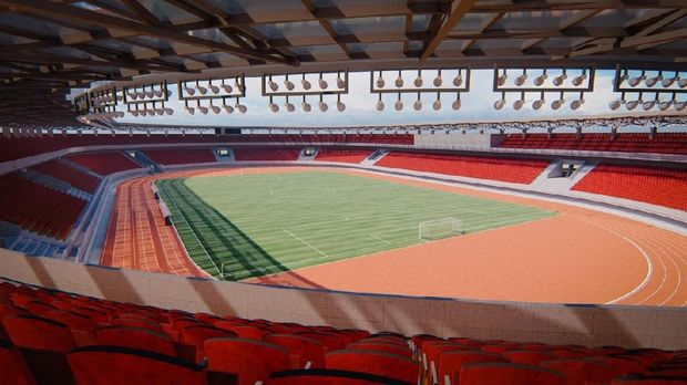 Stadion ini dirancang untuk menampung 30.000 penonton, dimana setiap penonton akan duduk di satu bangku.