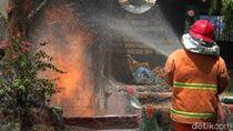 Saluran Jargas di Kota Probolinggo Bocor, Api Berkobar hingga 4 Meter