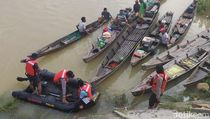 Sungai Kampar Riau Meluap, 200 Rumah Tergenang Banjir