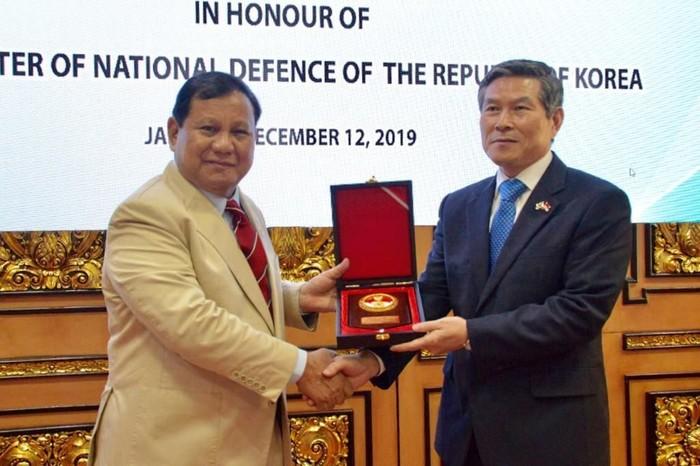 Prabowo dan Jeong Kyeong-doo (Foto: dok. Kemhan RI)