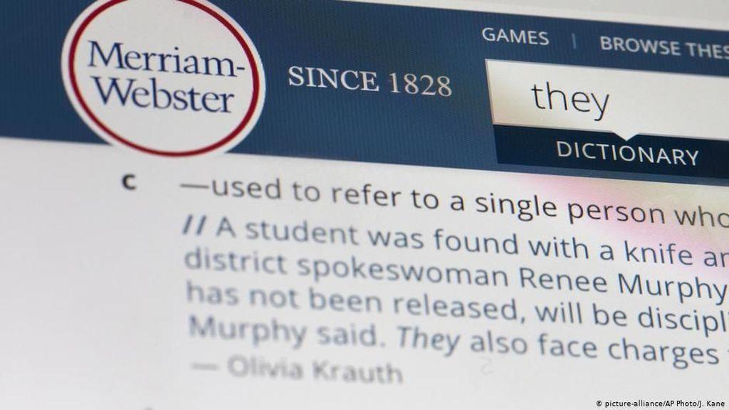 They Dinobatkan Sebagai Kata Tahun Ini versi Merriam-Webster Dictionary