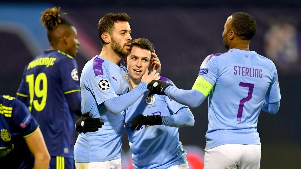 Menang 4-1, Manchester City Kubur Mimpi Dinamo Zagreb ke 16 Besar