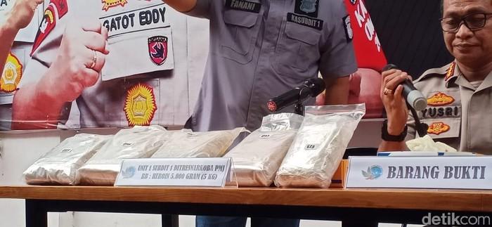 Barang bukti heroin yang disita Polda Metro Jaya (Foto: Samsdhuha Wildansyah/detikcom)