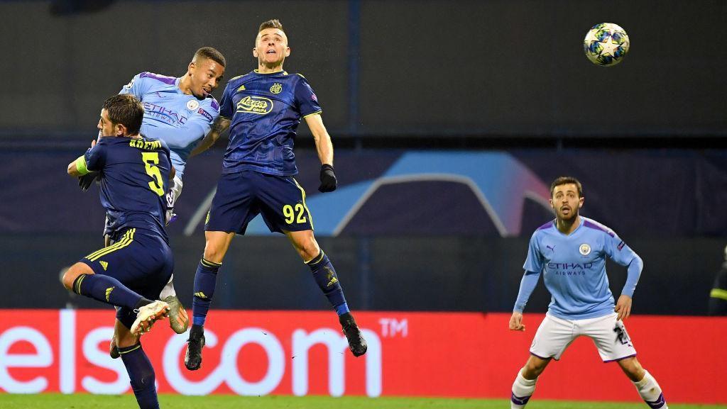 Dinamo Zagreb Vs Manchester City Berakhir 1-1 di Babak Pertama