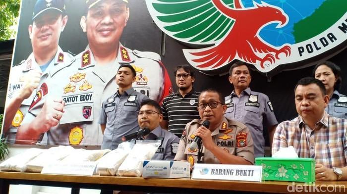 Foto: Samsudhuha Wildansyah-detikcom/Rilis kasus heroin di Polda Metro Jaya