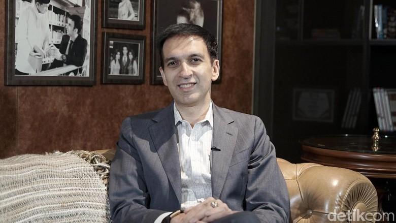 Manoj Punjabi saat ditemui di MD Palace.