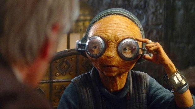 Lupita Nyong'o sebagai Maz Kanata di Star Wars.